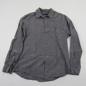 John Varvatos Star USA Grey Button Up Dress Shirt